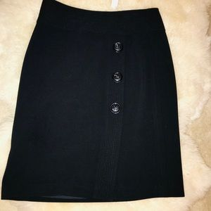 TALBOTS STRETCH FAUX WRAP BUTTONED SKIRT